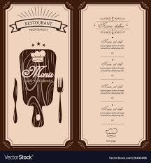 Restaurant Menu Template Menu Brochure For