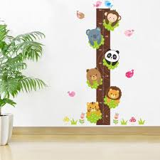 Kids Wall Growth Chart Us 3 85 5 Off Cartoon Monkey Panda Height Sticker Bear Wall Stickers For Kids Room Boy Growth Chart Stadiometer Kids Wall Mural Height Ruler In Wall