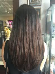Long Layered Hair With U Shape แบบผมยาว ผมยาวซอยสไลด ส