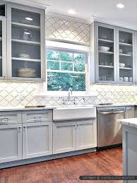 backsplash for gray cabinets arabesque ceramic maybe in grey backsplash white cabinets gray countertop