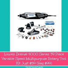 lowes dremel. lowes: dremel 4000 series 39 piece variable speed multipurpose rotary tool kit just $59 (reg $99) lowes s