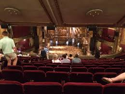 Cibc Theatre Chicago Il Seating Chart View Of Hamilton Stage From Back Row Of The Mezzanine