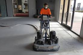 grinding back an old concrete floor also gives it a great key for adhesion when investing in resin or coatings adhesion is the most important factor