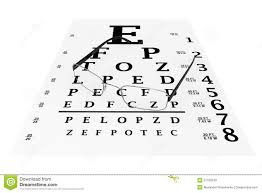 Modern Glasses With Eyechart Stock Illustration