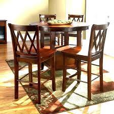 high kitchen table round dining table with storage tall round kitchen table a brown table