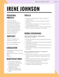 Sample Cv Format Nurses Professional Resumes Sample Online