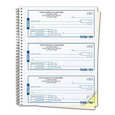 Checksimple Payment Receipt Forms Customized 3 Per Page Wire Bound Book 2 Part White 500 Receipts