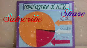Science Chart Project Model Of Composition Of Air Science School Project Pie Chart Of Air Kansalcreation Sst