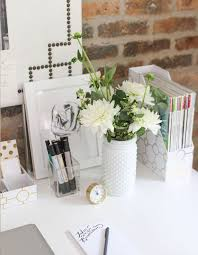 work desk ideas white office. spruce up your desk with fresh flowers work ideas white office