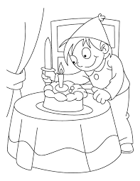 Small Picture A boy cutting his birthday cake coloring pages Download Free A