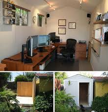 home office shed. Backyard Shed Turned Home Office Diy