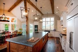sloped ceiling recessed lighting rustic