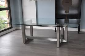 stainless steel dining table glass top decorate decor  gyleshomescom