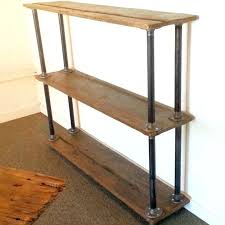 wood wall mounted bookshelves reclaimed shelf with brackets natural shelves wire and solid iron bookshelf 2