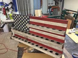 american flag shot glass display
