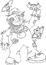 Small Picture Kids Scarecrow Coloring Pages