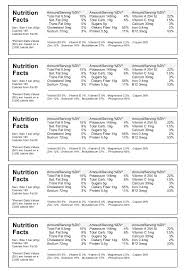 Nutrition Labels Template Best Nutrition Facts Label Maker With Free Food Label Template