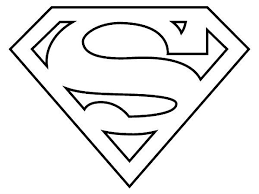 Small Picture Superman Logo Coloring Page coloring Pinterest Superman logo