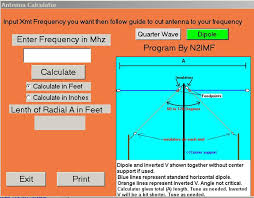 Dipole And Inverted V Vee Design And Calculator