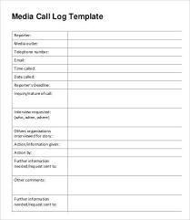 13 Call Log Template Free Premium Templates