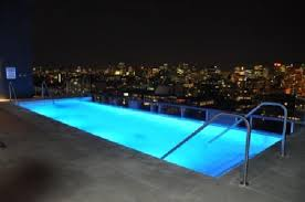 infinity pool night. Thompson Toronto - A Hotel: Rooftop Infinity Pool At Night. Night H