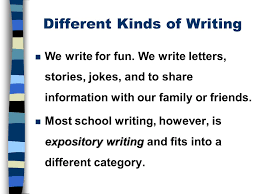 the five paragraph essay ppt video online  2 different kinds of writing