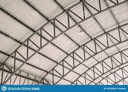 Iron Design Roofing Pattern Of Steel Roof Framework Curve Roof Steel Design
