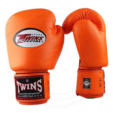 twins special leather boxing gloves velcro orange bgvl 3 orange 1