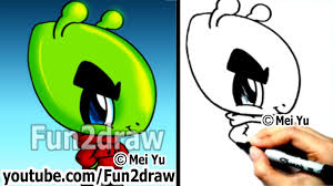 how to draw cool cartoons how to draw an alien fun things to draw fun2draw