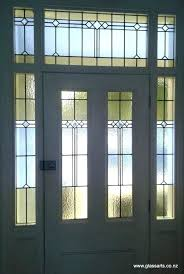 stained glass front door panels remove