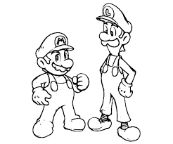 Small Picture Mario and Luigi is Teammate Coloring Pages Mario and Luigi is