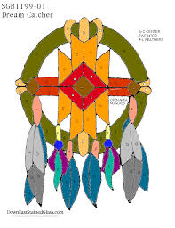dream catcher stained glass pattern