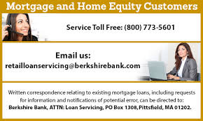 berkshire bank customer service loan servicing berkshirebank com