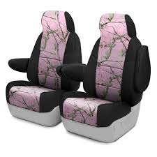 coverking realtree 1st row two tone ap pink custom seat covers