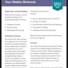 pin kayla itsines workout guide 2 0 pdf 18
