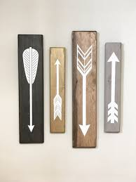 rustic white wooden arrows 4 piece set rustic decor farmhouse decor arrow on wall art wooden arrow with arrows cherry tree gallery