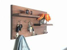 Wall Rack For Coats Entryway Coat Rack Mail Storage and Key Hooks from Midnight 23