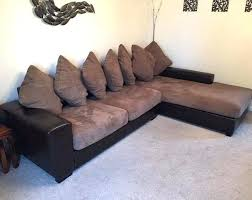 black material corner sofa leather and fabric couch brown l shape corner sofa couch ex land