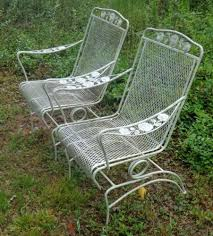 wrought iron vintage patio furniture. Woodard Wrought Iron Furniture Vintage Patio Chair Rose Garden Pattern 4 Roll Over Large Image To U