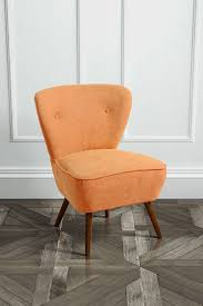 burnt orange furniture. delilah burnt orange retro occasional chair walnut legs furniture