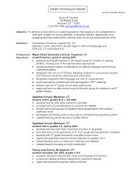 Chronological Resume For Canada Joblers Best 25 Chronological