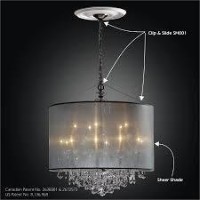 drum shade chandelier clip slide adapter kit sheer magic sh001 3