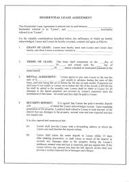 Simple Apartment Lease Form Printable Sample Residential Lease ...