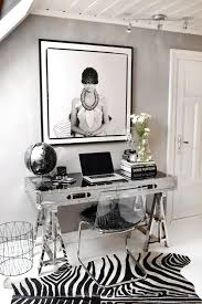black and white office decor. HOME OFFICE | Decorating For Glamour + Posh Organization Black And White Office Decor D