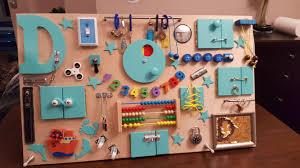 diy busyboard we made
