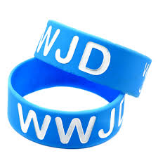 Jesus Is The Light Wristbands Us 15 8 21 Off Obh 25pcs Blue Debossed What Would Jesus Do Silicone Rubber Wristband In Id Bracelets From Jewelry Accessories On Aliexpress