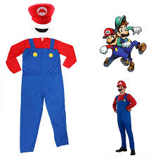 Adult Super Mario Luigi Bros Fancy Dress Plumber Game Costume Mens New  Outfit Green: Amazon.co.uk: Clothing