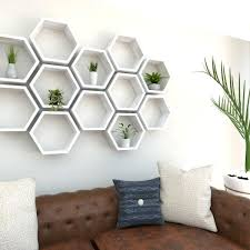 hexagon wall shelves hexagon shelves rustic white oak hexagon shelf full left shot hexagon wall shelf
