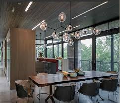 modern bistro globe hang modo clear glass ball chandelier