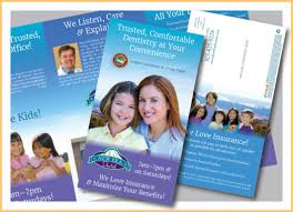 What Is A Pamphlet Sample Dental Brochures Dental Marketing Chrisad